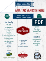 Citizens Rally to Stop Oil Sands Mining in Alabama - Flyer