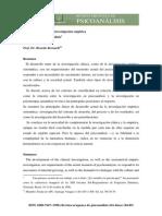 Bernardi - Investigación en Psicoanálisis