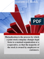 Demutualization of Stock Exchanges