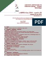 LAMPEA-Doc 2014 – numéro 18 / vendredi 23 mai 2014