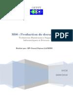 Module 06 Production de Documents Tmsir Ofppt