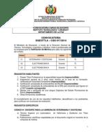 CDO 017 LA PAZ Inst Tec Caranavi