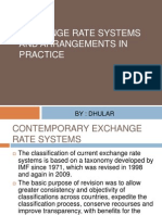EXCHANGE RATE SYSTEMS AND ARRANGEMENTS IN PRACTICE