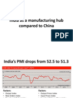 India as a manufacturing hub compared to China.pptx