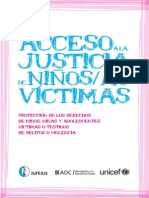 Acceso a Justicia de Niños Víctimas
