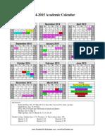 2014-2015 Dallas County Schools Academic Calendar Final