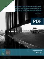2do Informe Violaciones a Ddh de Mexicanos Deportados de Usa