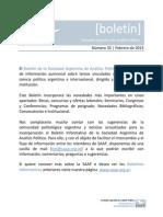 Boletin SAAP N°35 Febrero 2013