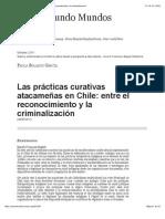Las prácticas curativas atacameñas en Chile entre el reconocimiento y la criminalización