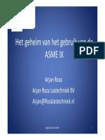 ASME IX Presentatie (Arjan Roza)