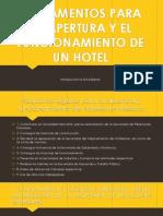 Reglamentos Para La Apertura y El Funcionamiento de Hoteles en Mexico