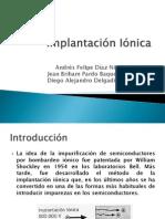 Implantación Iónica - Presentacion