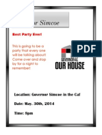 governor simcoe party
