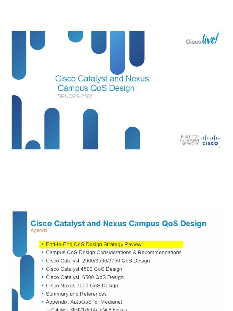Cisco Catalyst and Nexus Campus Qos Design | Quality Of