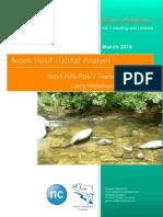 progress report - brook trout habitat suitability