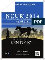 NCUR 2014 Final Program