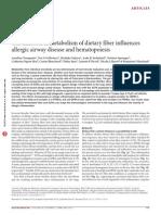 Gut Microbiota Metabolism of Dietary Fiber Influences