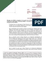 FR Messaggio Presidenza CCEE 22.05.2014