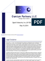Osmium Partners Presentation - Spark Networks Inc