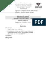 Contrôle de Gestion (Méthode ABC)