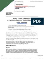 Raging Against Self Defense a Psychiatrist Examines the Anti-Gun Mentality [15 Pp]