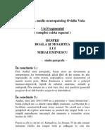 Concluzie - Despre Boala si Moartea lui Mihai Eminescu