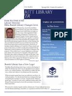 Elihu Burritt Library Newsletter - Spring 2014
