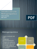 Introducción a La Hidrogeoquímica
