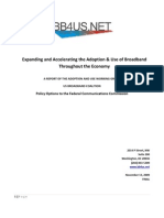 US Broadband Coalition Report Expanding and Accelerating the Adoption & Use of Broadband Throughout the Economy of 11-13-2009