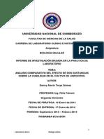 Análisis Comparativo Del Efecto de Dos Sustancias Sobre La Viabilidad en El Cultivo de Linfocitos.