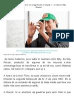 _Lo Más Importante en Una Película Es El Guión_, Productor Billy Rovzar _ Guionnews