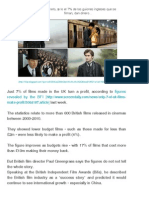 Un Secreto, Sólo El 7% de Los Guiones Ingleses Que Se Filman, Dan Dinero... _ Guionnews