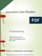 BusinBusiness Case Studiesess Case Studies