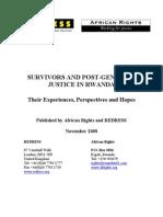 Survivors and Post-genocide Justice in Rwanda