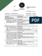 NEBOSH Candidates Observation Sheet Pritesh Bare