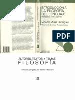 Muñiz Rodríguez Vicente - Introducción a La Filosofía Del Lenguaje Cap.1-2 y 6 - Bibliografía e Índice