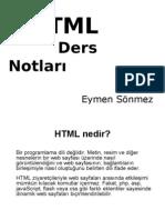 HTML Ders Notları Slayt