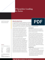 SP Securities Lending Index Series Factsheet