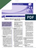 Régimen Laboral Especial de Construcción Civil - 1ra Parte Informe Especial 2009