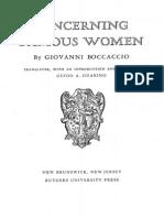 BOCCACCIO. Concerning Famous Women