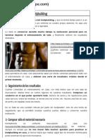 La Correcta Práctica Del Bodybuilding - Punto Fape