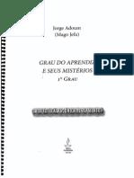 Grau de Aprendiz e Seus Mistérios - Jorge Adoum