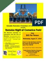 Romulus Night at Comerica Park 8-27-14