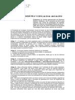 Edital Vestibular UNIVESP 2014
