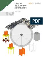 2013 LOD Specification Bim Forum
