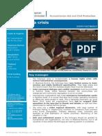 ECHO Factsheet The Rohingya crisis – May 2014