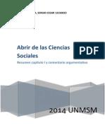 Abrir de Las Ciencias Sociales.resumen y Comentario Argumentativo.