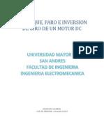 Arranque, Paro e Inversión de Giro Para Un Motor de CD, Ac