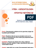 Historia Geriatria Gerontologia