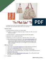 Free Bag Pattern - 'for Pleats Sake' Tote